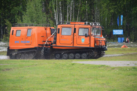 Universal mobile complex for rescue and fire fighting in hard-to-reach places at the Noginsk rescue center.