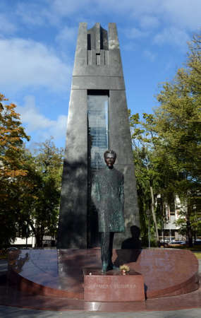 Monument to Vincas Kudirka (1858-1899), Lithuanian composer, doctor, prose writer, poet, author of the Lithuanian national anthem National song.