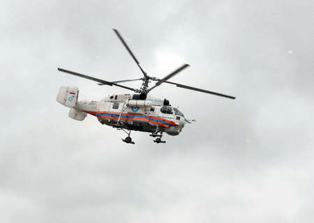 Helicopter КА-32А of the Ministry of Emergency Measures of Russia.