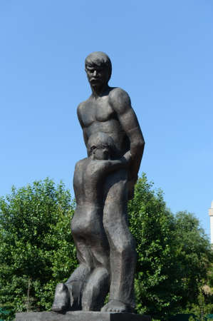 BARNAUL, RUSSIA - JULY 13, 2015: Monument Farewell. The victims of political repressions dedicated