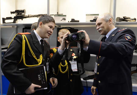 Pupils of the Moscow Cadet Corps of Police at the international exhibition Interpolitex