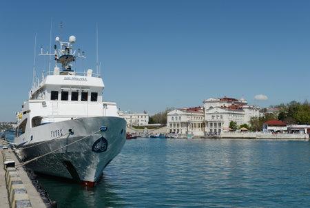 Passenger ship Topaz at the pier in Sevastopol.