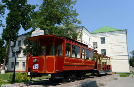 tramway: Monument to the first Vitebsk tram. Editorial