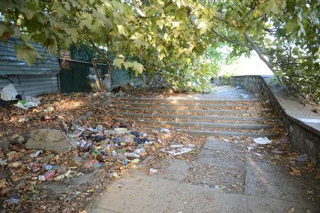 セヴァストポリの街の汚れ。
