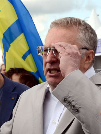 Leader of the Liberal Democratic Party of Russia Vladimir Zhirinovsky at the press festival in Moscow.