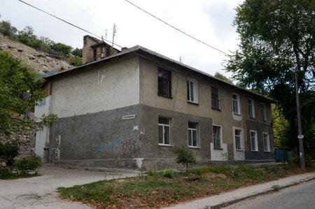 セバスト ポールの通りの Revyakin の住宅。 報道画像