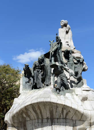 Fountain-memorial to Dr. Bartolamew Robert at Tetuan Square in Barcelona.