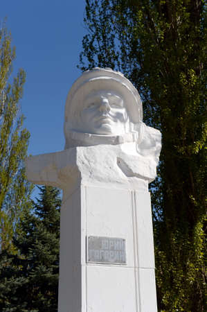 The monument to the first cosmonaut Yuri Gagarin in Volgodonsk.
