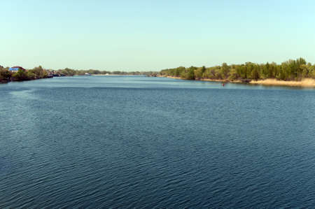 dont walk: The Don River near the village of Romanovskaya, Rostov Region.