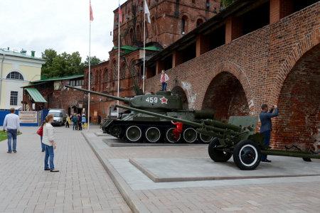 Exhibition of equipment of the Great Patriotic War of 1941-1945 in the Nizhny Novgorod Kremlin.
