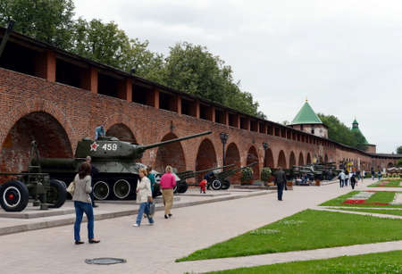 Exhibition of equipment of the Great Patriotic War of 1941-1945 in the Nizhny Novgorod Kremlin.