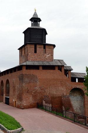 The clock tower of the Nizhny Novgorod Kremlin. Editorial