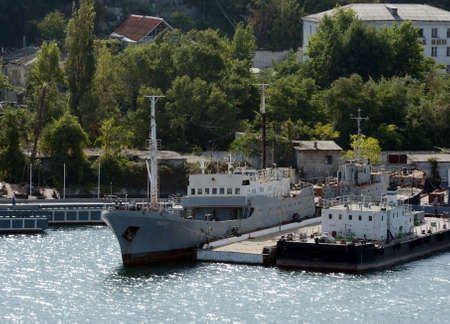The refrigerator ship Mius in the South Bay of Sevastopol.