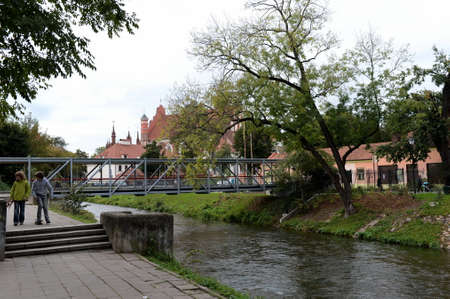 The Vilna River, which separates the Užupis district of Vilnius. Editorial