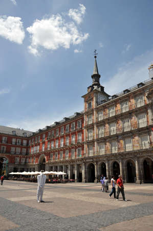 Plaza Mayor, one of the central square of the capital, built during the Habsburg. Editorial