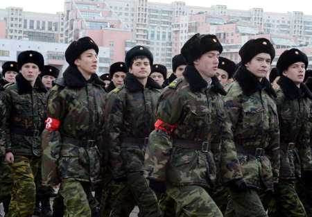 Cadets of the Moscow Petrovsky Cadet Corps are preparing for the parade on November 7 on Red Square. Editorial