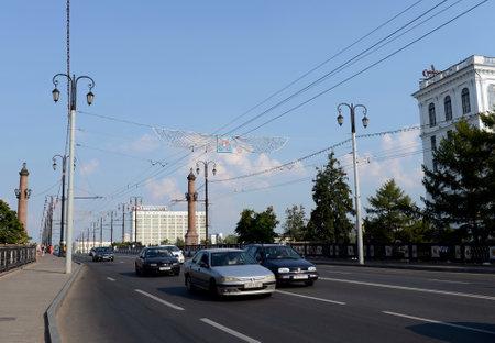 Kirov bridge across the Western Dvina in Vitebsk.