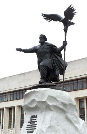 Monument to the Grand Duke of Moscow Ivan III in front of the administration building in Kaluga.