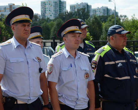 The officers of the road patrol.