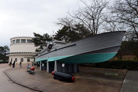 Torpedo boat project 123K (TKA Komsomolets) on Sapun Mountain in Sevastopol.