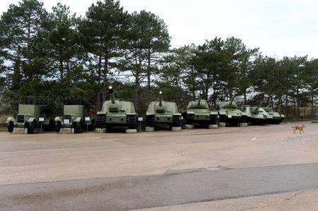 Combat equipment of the Great Patriotic War on Sapun Mountain.