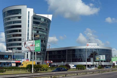 Shopping center Format and business center Volkovsky on the Olympic Avenue. Editorial
