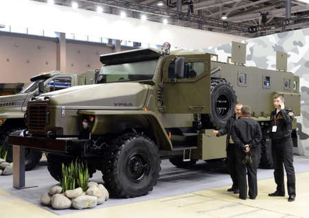 Military truck Ural-4320 double-cross-country with a wheel arrangement 6x6.