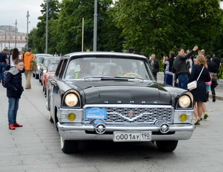 Soviet passenger car GAZ-13 representative class Chaika for rallying old cars in Moscow.