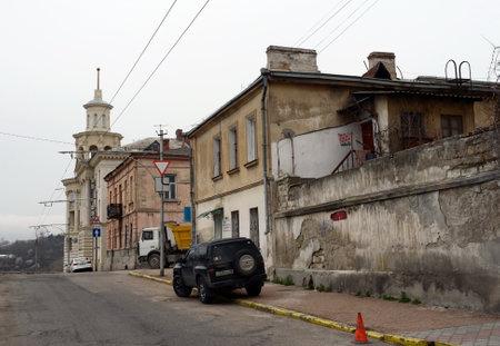 Krasny Descent Street in Sevastopol. 報道画像