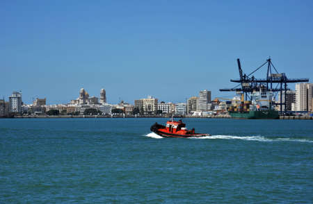 Sea tug at the port of Cadiz.