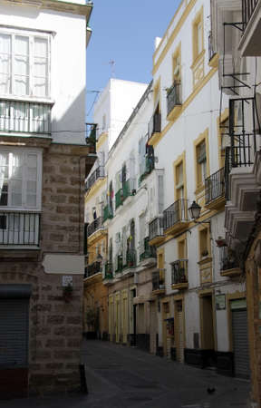 The Ancient street of Cadiz, one of the oldest cities in Western Europe.