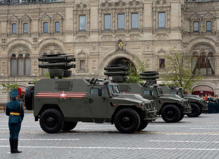 All-terrain infantry mobility vehicle GAZ Tigr with anti-tank guided missile system Kornet