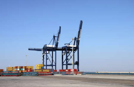 Container yard in the seaport of Cadiz. Editorial