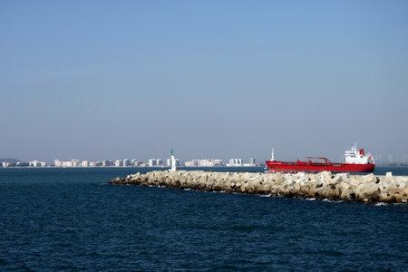 In the harbor of the Cadiz Gulf of the Atlantic Ocean.