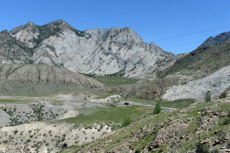 Chuysky tract in the region of the Chuysko-Katun valley. Mountain Altai