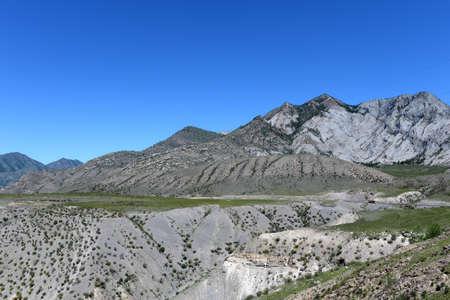 Mountain landscape in the region of the Chuysko-Katun valley. Altai Republic. Siberia