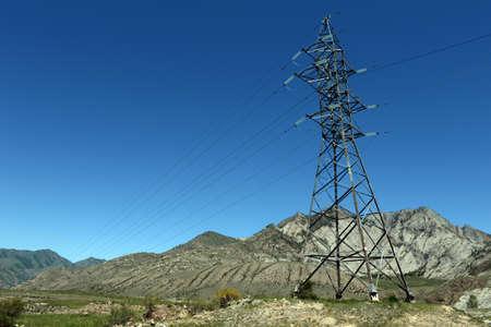 Power transmission line in the region of the Chuysko-Katun valley. Altai republic