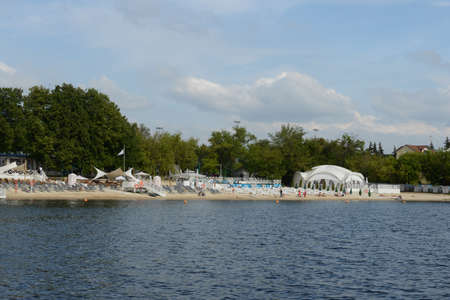 The beach at the Khimki reservoir in Moscow