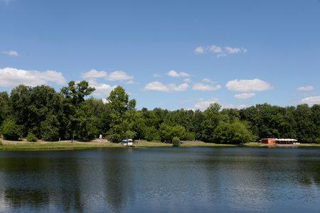 Shibaevsky pond in the natural-historical park Kuzminki-Lublino