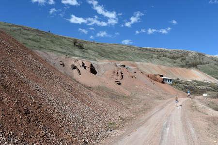 The road to the Aktash mine. mountain Altai