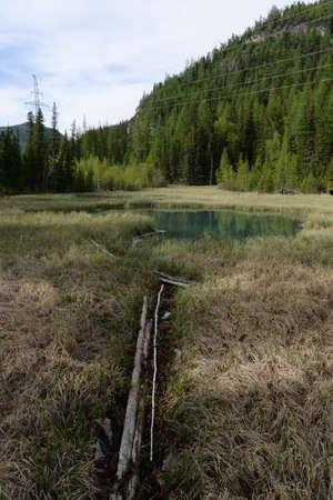 Blue Geysernoe Lake, Aktash, Ulagansky District, Gorny Altai, Siberia, Russia