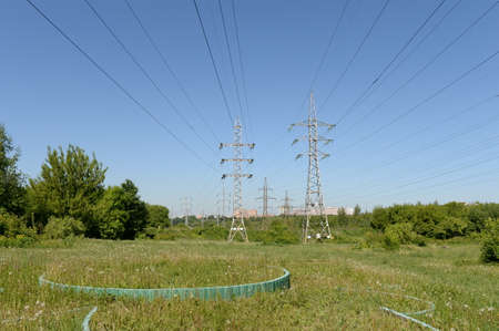 Power line in Moscow's Lublin park