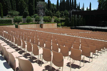 Summer theater in alhambra Stock Photo