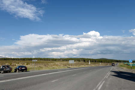 Tratto Chui sul passo Seminsky nei Monti Altai