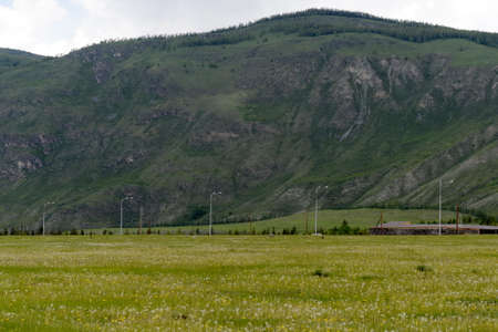 The outskirts of the village of Aktash in the Altai Republic Reklamní fotografie - 119367045