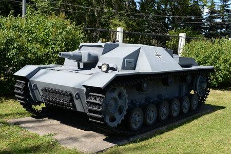 German assault gun Sturmgesch?tz Ausf.A (StuG III Ausf.A) on Poklonnaya hill in Moscow