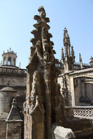 Fragment of the Cathedral in Seville