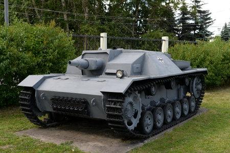German assault gun Sturmgeschtz Ausf.A (StuG III Ausf.A) on Poklonnaya hill in Moscow
