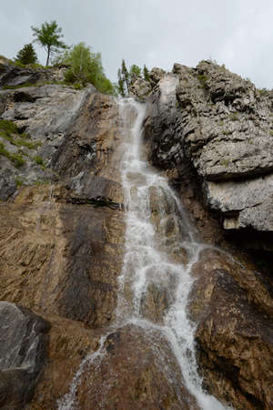Waterfall Cherlak River in Altai Mountains, Siberia, Russia