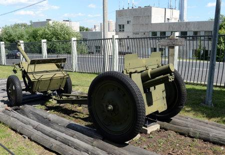 76-mm regimental cannon model 1927 on Poklonnaya Hill in Moscow
